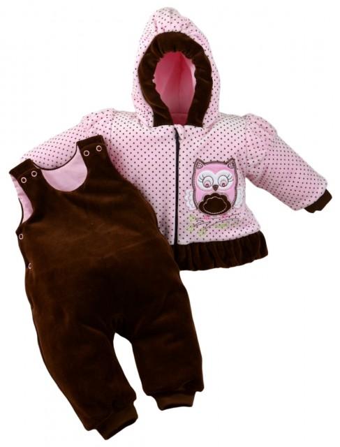 MBSowa-G.9 luni,Compleu bebelusi roz - Bufnita