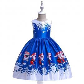 MDmk46-4.6-7 ani,Rochita albastra - Happy Santa Claus