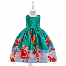 MDmk47.7-8 ani,Rochita verde - Santa Claus