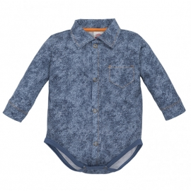 MK0304JC.12 luni,Body camasuta pentru bebelusi Denim Style - Colectia Elegant
