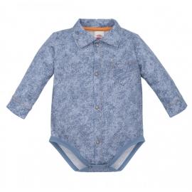 MK0304JJ.12 luni,Body camasuta pentru bebelusi Denim Style 2 - Colectia Elegant