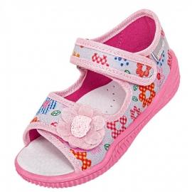 VIG104.Marimea 20,Sandalute gri cu floricele colorate