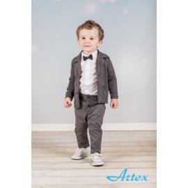 Art020.0-1 luni,Costum elegant pentru bebelusi - Grey Style