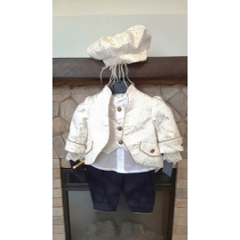 MDDR055.6-9 luni (Marimea 19 incaltaminte),Costum elegant din 6 piese pentru botez