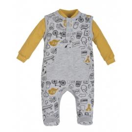 MK01197.9 luni,Salopeta cu bluzita pentru bebelusi - Colectia Route 66