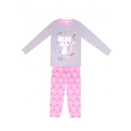 PJD-002.8 ani,Pijama pentru fetite - Kitty