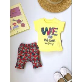 MBDR048.9 luni,Costumas fetite cu tricou - We are the best!