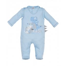 MK01191.9 luni,Salopeta cu bluzita pentru bebelusi - Colectia T-Rex