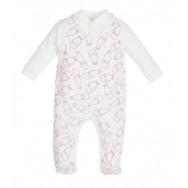 MK01198.6 luni,Salopeta pentru bebelusi cu bluzita - Colectia Milk Girl