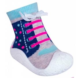 OB-100-1.Marimea 22,Mocasini pentru fetite cu talpa antiderapanta - Happy Running Shoes
