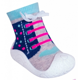 OB-100-1.Marimea 23,Mocasini pentru fetite cu talpa antiderapanta - Happy Running Shoes