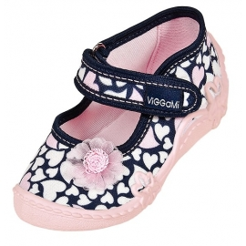 VIG88.Marimea 24,Pantofiori fetite - Inimioare albe
