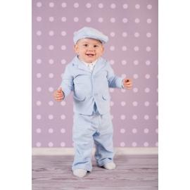 Art-suit 01 Blue.0-3 luni,Costum elegant din raiat Blue Sky