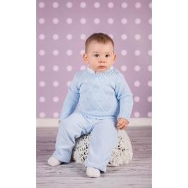 Art-sweater3.0-3 luni,Pulover albastru pentru bebelusi