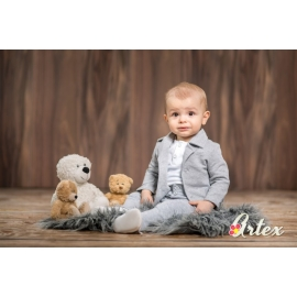 Art029bbc-gri.12-18 luni (Marimea 21 incaltaminte),Costum pentru bebelusi - Set complet Grey Perfect