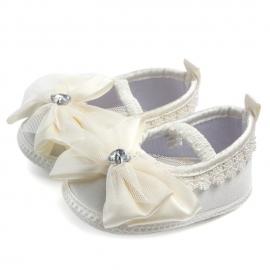 MBD0810-5-p3.6-9 luni,Pantofiori botez fetite - Fundita ivoire