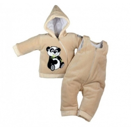 MBPanda-G.6 luni,Compleu bebelusi crem - Panda
