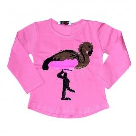 MDTR25.6 luni,Bluzita roz cu paiete schimbatoare - Flamingo
