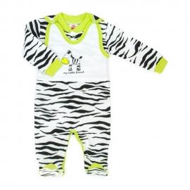 MK01158.6 luni,Salopeta bebe cu bluzita - Zebra - Haine Bebelusi
