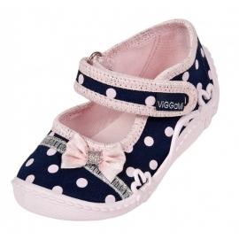 VIG86.Marimea 24,Pantofiori fetite - Misia Jeans cu buline