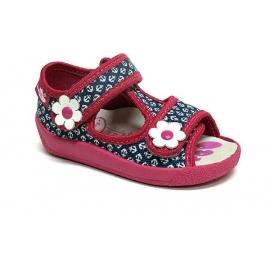 IRERENB81.Marimea 25,Sandalute albastre pentru fetite - Ancore