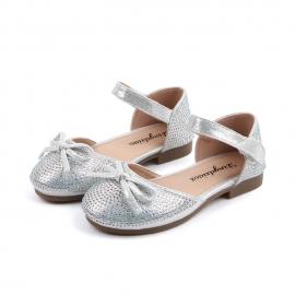 MBYY-5830-3.Marimea 22,Pantofi eleganti argintii cu strasuri