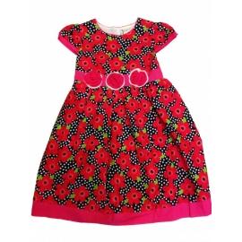 MD122.10 ani,Rochie fete - Elegant red flower