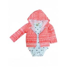 MD146.2 ani,Hanorac pentru bebelusi cu body - Little teddy