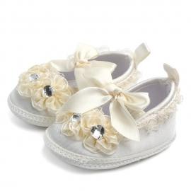 MDD0810-2-p8.6-9 luni,Pantofiori botez fetite ivoire