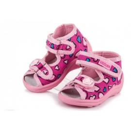 VIG69.Marimea 25,Sandalute pentru fetite - Inimioare colorate