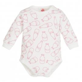 MK03198DDR.3 luni,Body alb cu sticlute de lapte - Milk Girl