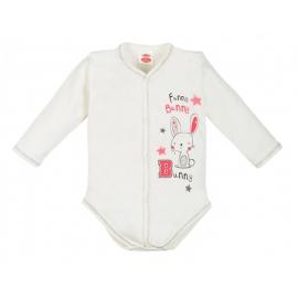 MK03180RO.6 luni,Body cu capse pentru fetite - Colectia Bunny