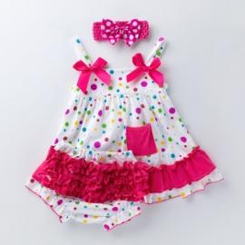MBX010-1-c2.6-9 luni (Marimea 19 incaltaminte),Costumas pentru fetite - Bulinute colorate