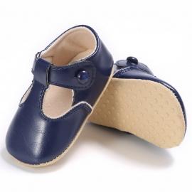 LIYM52-3-p10.3-6 luni (Marimea 18 incaltaminte),Pantofiori bleumarine cu nasturel