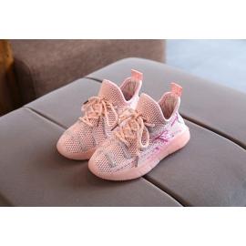 MDBC-2-ac.Marimea 30,Adidasi roz cu sireturi ajustabile