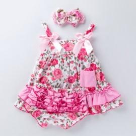 MBX010-5-c1.6-9 luni (Marimea 19 incaltaminte),Costumas pentru fetite - Rose flower
