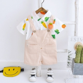 MBW-121-4.6-9 luni (Marimea 19 incaltaminte),Salopeta cu camasuta - Happy vegetables