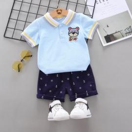 MBW-152-3.9-12 luni (Marimea 20 incaltaminte),Costum cu tricou bleu - Bear