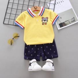 MDW-152-1.12-18 luni (Marimea 21 incaltaminte),Costum cu tricou galben - Bear