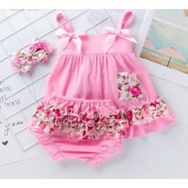 MDX010-c3.6-9 luni (Marimea 19 incaltaminte),Costumas pentru fetite - Flower