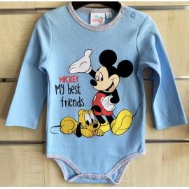 LIJ607A.12 luni,Body bleu Mickey - Colectia Disney