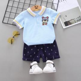 MBW-152-3.6-9 luni (Marimea 19 incaltaminte),Costum cu tricou bleu - Bear