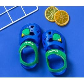 MBHJ-199-2-c.Marimea 22,Papuci albastri tip sandaluta din cauciuc pentru baietei