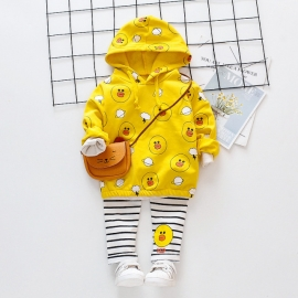 MDHQ328-3.12-18 luni (Marimea 21 incaltaminte),Costumas galben pentru fetite - The duck