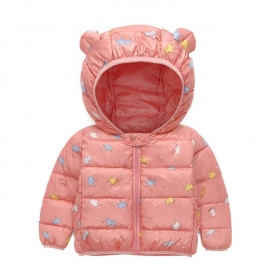 MBG03-L.3 ani,Geaca din fas roz piersica pentru fetite - Coronite
