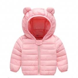 MDLS01-1-L.12-18 luni (Marimea 21 incaltaminte),Geaca din fas roz pentru fetite